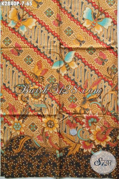 Batik Klasik Printing Motif Mewah, Kain Batik Halus Nan Istimewa Bahan Pakaian Formal Tampil Elegan Mempesona [K2840P-200x110cm]