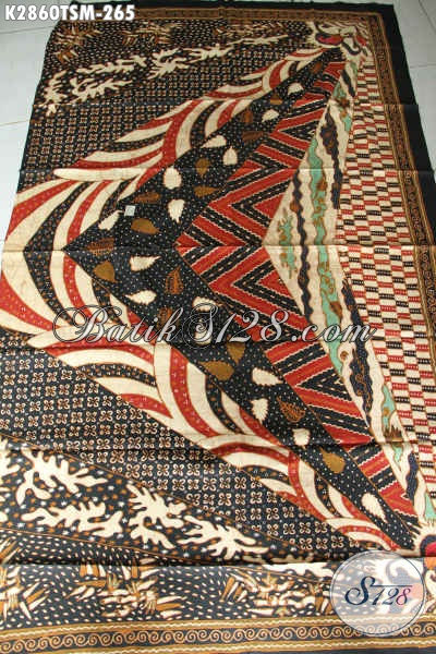 Produk Batik Kain Klasik Terkini, Batik Tulis Halus Motif Sinaran Bahan Pakaian Nan Istimewa Untuk Penampilan Lebih Sempurna [K2860TSM-200x110cm]
