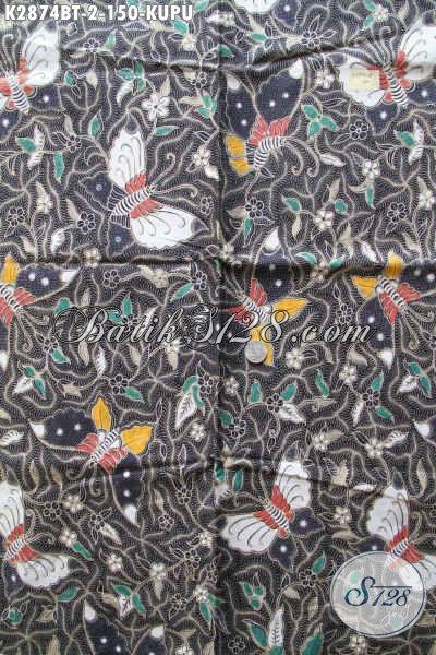 Batik Kain Modern Trend Masa Kini, Batik Halus Kombinasi Tulis Motif Kupu Untuk Baju Modis Dan keren [K2874BT-240x110cm]