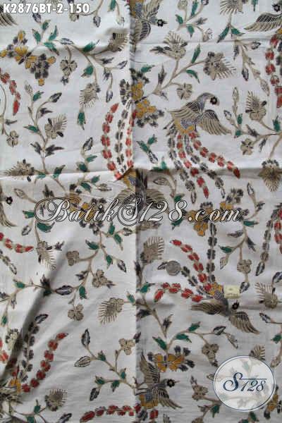 Produk Kain Batik Terkini, Kain Batik Kombinasi Tulis Kwalitas Istimewa Buatan Solo Bahan Pakaian Motif Trendy Hanya 150 Ribu [K2876BT-240x110cm]