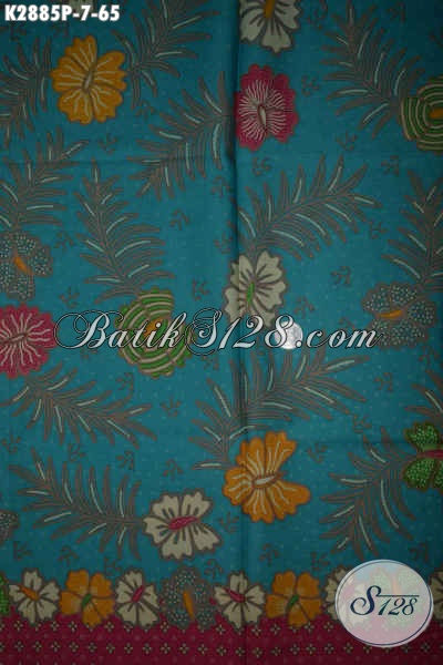 Pusat Batik Kain Solo, Jual Online Bahan Busana Keren Motif Bunga, Pas Banget Untukk Wanita Karir Dan Ibu-Ibu Muda [K2885P-200x110cm]
