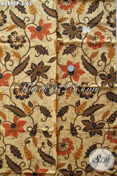 Produk Kain Batik Solo Istimewa Motif Klasik Proses Printing, Batik Halus Bahan Busana Elegan Cocok Untuk Seragam Kantor [K2892P-200x110cm]