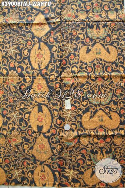 Jual Kain Batik Jarik Klasik Kombinasi Tulis Motif Wahyu Tumurun, Batik Halus Buatan Solo Asli [K2900BTMJ-240x105cm]