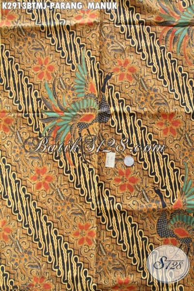 Bahan Kain Batik Solo Kwalitas Bagus Harga Terjangkau, Kain Batik Klasik Kombinasi Tulis Motif Parang Manuk Hanya 120 Ribu Saja [K2913BTMJ-240x105cm]