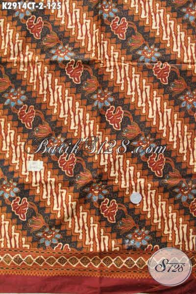 Kain BatikMurah Bakal Busana Modern Klasik Nan Istimewa Proses Cap Tulis Hanya 125K [K2914CT-200x110cm]