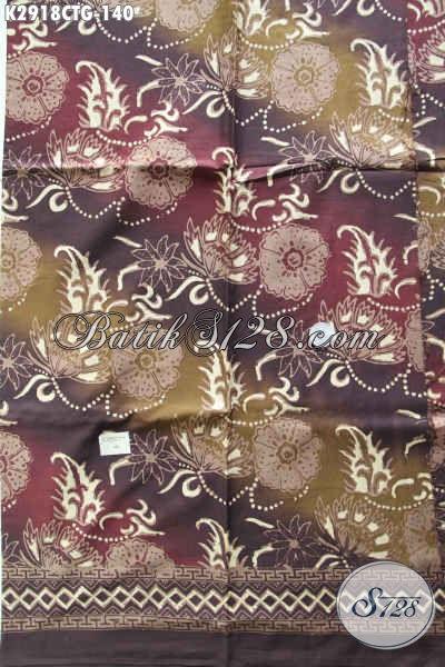 Sedia Batik Motif Bunga, Batik Soo Cap Tulis Dengan Kombinasi Warna Modern Nan Modis,Cocok Untuk Bahan Baju Wanita Muda Dan Dewasa