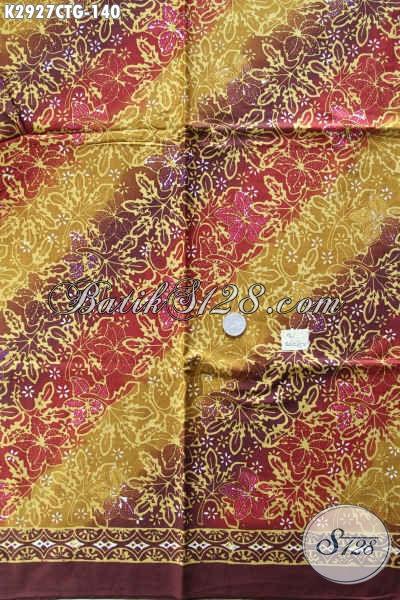 Batik Halus Bahan Busana Berkelas Wanita Dan Pria Proses Cap Tulis Asli Buatan Solo Indonesia [K2927CTG-200x110cm]