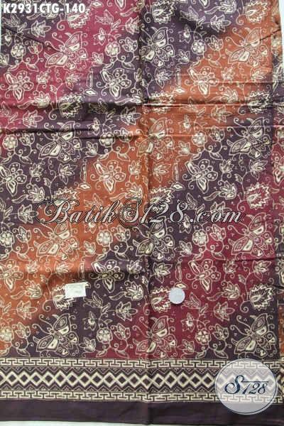 Cari Kain Batik Murah, Batik Halus Khas Solo Jateng Proses Cap Tulis Bahan Pakaian Trendy Dan Modis Harga 140K [K2931CTG-200x110cm]