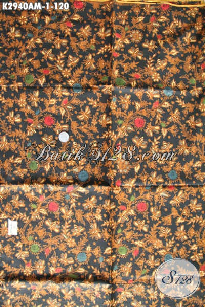 Toko Kain Batik Solo Online Tempat Belanja Kain Batik Murah, Sedia Kain Batik Halus Motif Klasik Bahan Jarik Proses Kombinasi Tulis 120K [K2940AM-240x105cm]