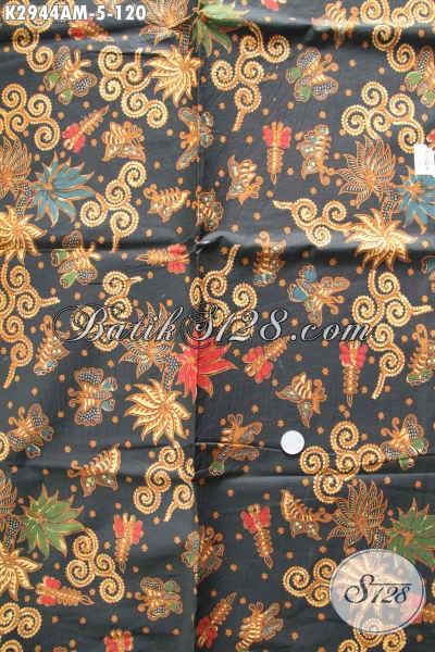 Batik Halus Kwalitas Istimewa, Kain Batik Jarik Berkelas Proses Kombinasi Tulis Asli Buatan Solo Indonesia [K2944AM-240x105cm]