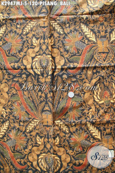Tempat Beli Kain Batik Murah Solo, Sedia Batik Jarik Klasik Motif Pisang Bali Proses Kombinasi Tulis, Pas Untuk Acara Formal [K2947MJ-240x105cm]