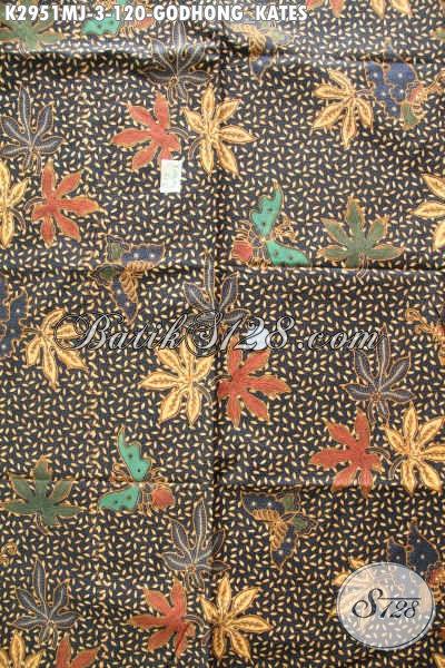 Batik Klasik Buatan Solo, Kain Batik Kombinasi Tulis Motif Godhong Kates Kwalitas Istimewa Untuk Baju Kerja Dan Rapat