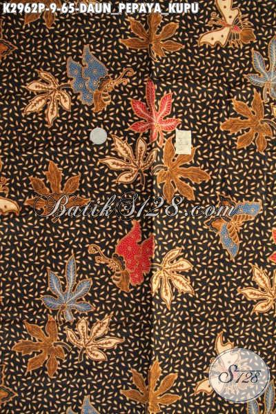 Tempat Belanja Batik Online, Sedia Kain Batik Solo Halus Proses Printing Motif Daun Pepaya Kupu Hanya 60 Ribuan