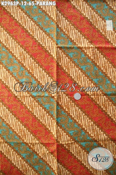Jual Kain Batik Ciri Khas Solo Jawa Tengah, Kain Batik Motif Parang Elegan Bahan Kemeja Pria Untuk Penampilan Lebih Gagah Proses Printing Harga 65K [K2963P-200x110cm]