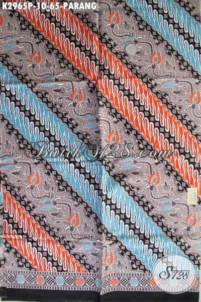 Distributor Kain Batik Solo, Sedia Batik Klasik Proses Printing Motif Parang Dengan Kombinai Warna Keren Lebih Modern Dan Berkelas [K2965P-200x110cm]