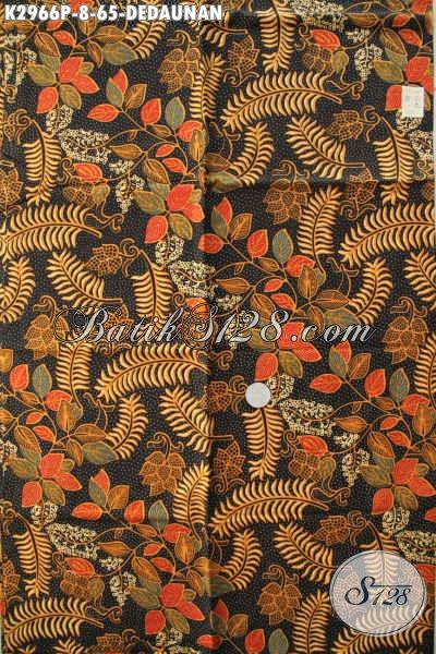 Batik Solo Halus Bahan Blus Wanita Karir, Kain Batik Printing Motif Dedaunan Buatan Solo, Cocok Juga Untuk Kemeja Pria [K2966P-200x110cm]