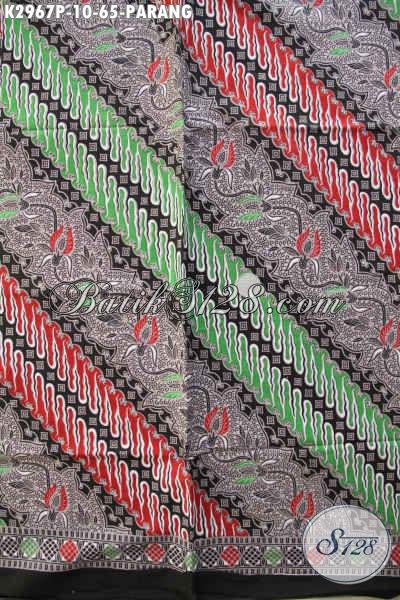 Batik Solo Motif Parang, Kain Batik Bahan Pakaian Kerja Nan Istimewa Proses Printing Di Jual Online 65K [K2967P-200x110cm]