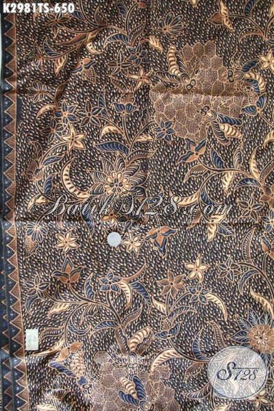 Motif Batik Kain Tulis Soga Terbaru, Batik Berkelas Mewah Buatan Solo Bahan Busana Istimewa, Cocok Untuk Kek Kantor Dan Acara Resmi [K2981TS-240x110cm]