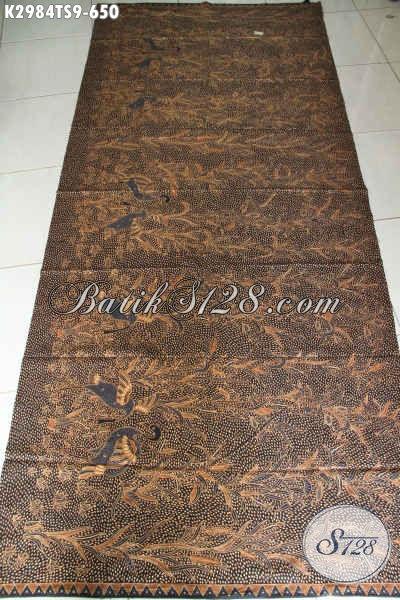 Kain Batik Solo Premium Motif Bagus Nan Berkelas, Batik Istimewa Bahan Busana Menunjang Penampilan Lebih Sempurn Harga 650K Proses Tulis Soga [K2984TS-240x110cm]