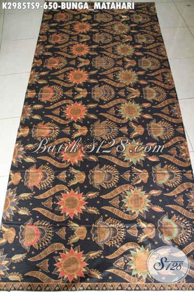 Jual Batik Kain Tulis Soga Motif Bunga Matahari, Batik Jawa Berkelas Bahan Pakaian Premium Untuk Kerja Dan Acara Resmi [K2985TS-240x110cm]