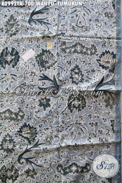Batik Kain Bahan Busana  Pria Nan Mewah Dan Berkelas, Batik Tulis Klasik Warna Alam Motif Wahyu Tumurun Untuk Baju Kerja Dan Rapat, Tampil Gagah Bak Pejabat [K2992TA-240x110cm]
