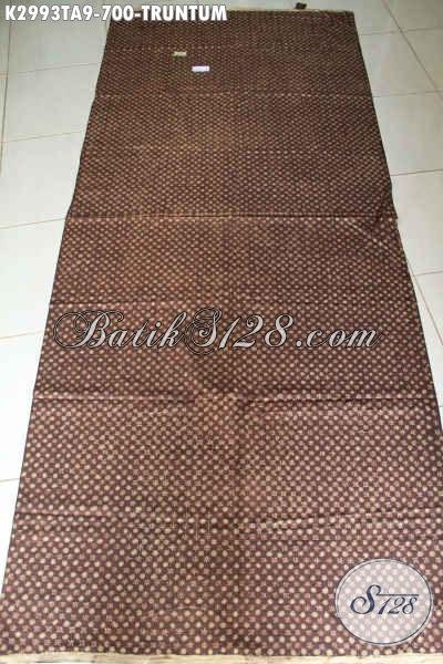 Batik Klasik Motif Truntum, Kain Batik Mewah Halus Proses Tulis Warna Alam Bahan Pakaian Nan Istimewa, Menunjang Penampilan Makin Sempurna [K2993TA-240x110cm]