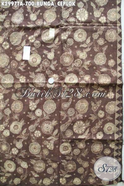 Jual Batik Klasik Online, Batik Tulis Warna Alam Bahan Pakaian ELegan Dan Mewah Harga 700K, Cocok Untuk Seragam Kerja [K2997TA-240x110cm]