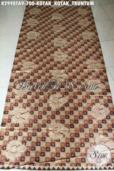Koleksi Terkini Toko Batik Online, Kain Batik Klasik Motif Kotak-Kotak Truntum Bahan Busana Kerja Dan Santai Untuk Tampil Bagus Dan Modis, Proses Tulis Warna Alam Harga 700K [K2998TA-240x110cm]