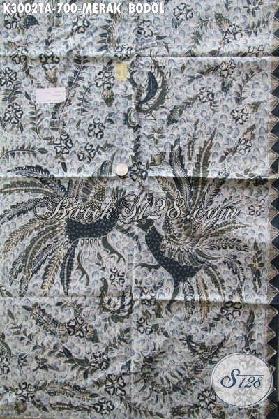 Batik Mewah Bahan Kemeja Lengan Panjang, Kain Batik Premium Solo Halus Proses Tulis Warna Alam Motif Merak Bodol, Tampil Lebih Berkarakter [K3002TA-240x110cm]