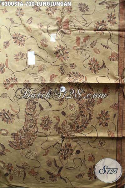 Batik Kain Lunglungan Proses Tulis Warna Alam, Batik Mewah Istimewa Buatan Solo Bahan Kemeja Premium Untuk Tampil Istimewa Dan Berwibawa [K3003TA-240x110cm]