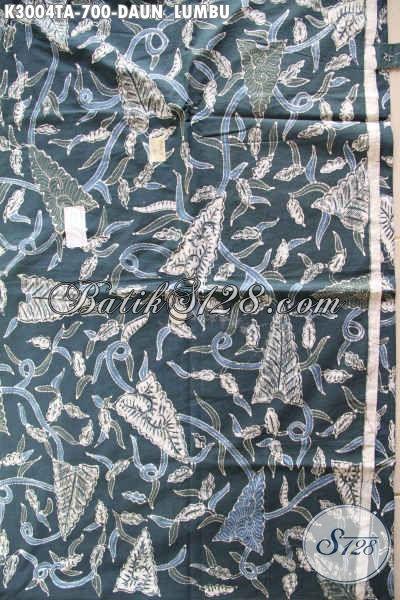 Batik Kain Motif Daun Lumbo Proses Tulis Warna Alam Buatan Pengerajin Kampung Asli, Bahan Pakaian Berkelas Dan Mewah Di Jual Online 700K [K3004TA-240x110cm]