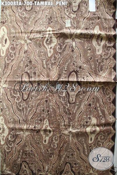 Batik Halus Mewah Motif Tambal Peni, Kain Batik Solo Istimewa Premium Harga 700K, Cocok Untuk Baju Kerja Kondangan Dan Rapat Tampil Istimewa [K3008TA-240x110cm]
