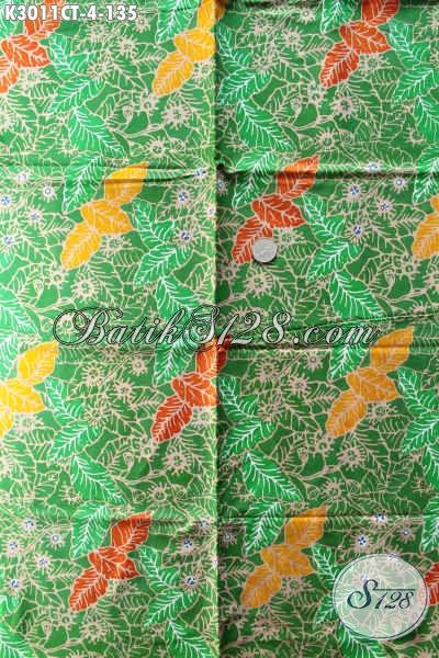 Kain Batik Hijau Motif Bagus Kwalitas Istimewa Buatan Solo Proses Cap Tulis Bahan Pakaian Nan Istimewa Untuk Penampilan Sempurna