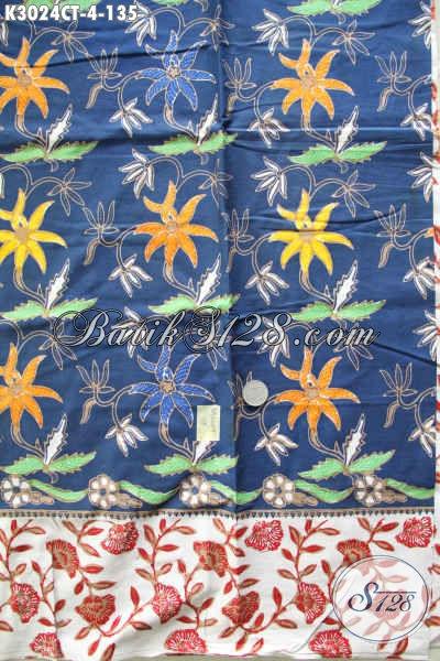 Batik Modis Bahan Pakaian Santai Dan Formal, Batik Solo Jawa Tengah Proses Cap Tulis, Menunjang Penampilan Lebih Sempurna [K3024CT-200x115cm]