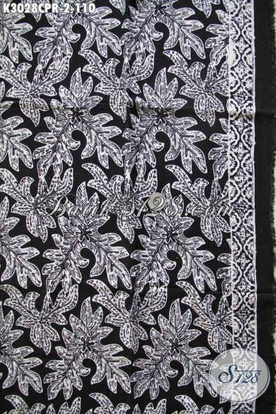 Jual Kain Batik Solo Monokrom, Batik Paris Halsu Motif Elegan 100 Ribuan Trend Terkini