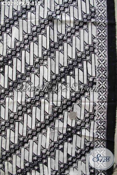 Batik Kain Istimewa, Batik Halus Buatan Solo Bahan Paris Untuk Baju Kerja Dan Resmi Warna Monokrom Hitam Putih