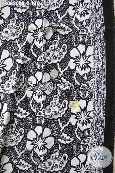 Batik Halus solo Motif Terkini, Batik Paris Jawa Tengah Monokrom Putih Hitam Hanya 100 Ribuan
