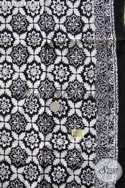 Batik Paris Halus Proses Cap, Kain Batik Istimewa Bahan Pakaian Wanita Terkini Menunjang Penampilan Lebih Berkelas [K3035CPR-180x105cm]