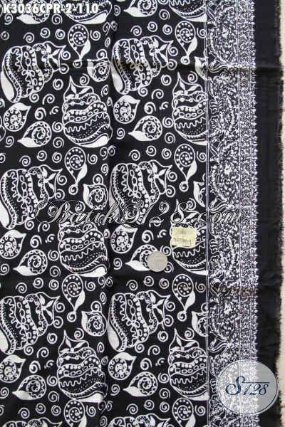 Produk Terkini Kain Batik Paris Monokrom Motif Bagus Dan Mewah, Bahan Pakaian Penunjang Penampilan