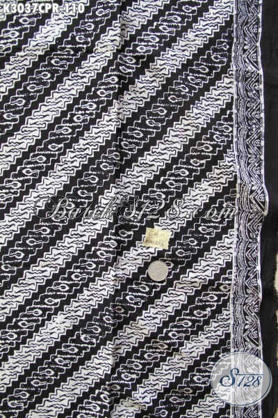 Batik Paris Motif Parang Monokrom, Batik Hitam Putih Elegan Dan Berkelas, Bahan Baju Resmi