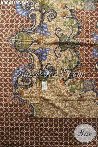 Batik Solo Premium, Batik Tulis Dengan Pola Kemeja Lengan Panjang, Bikin Penampilan Makin Sempurna [K3045LPT-240x110cm]