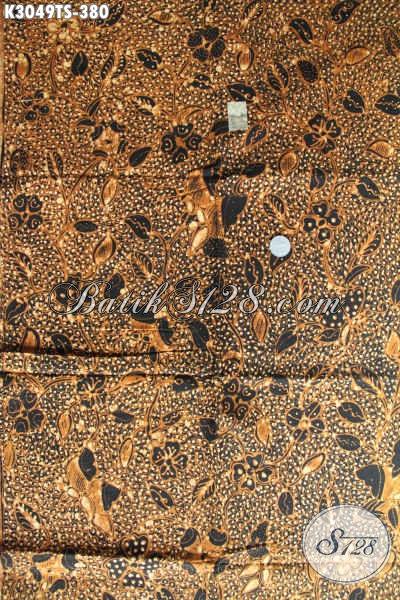 Batik Klasik Solo Proses Tulis Soga, Batik Jawa Etnik Kwalitas Bagus Hanya 380K [K3049TS-200x110cm]