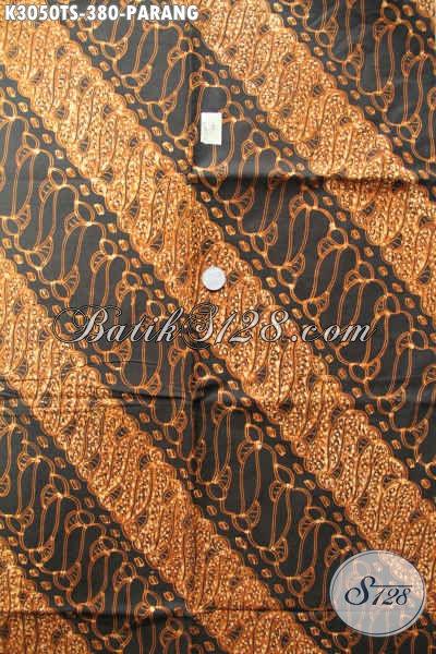 Distributor Kain Batik Solo, Sedia Batik Klasik Motif Parang Bahan Busana Kwalitas Istimewa Proses Tulis Soga Hanya 300 Ribuan [K3050TS-200x110cm]