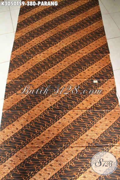 Kain Batik Parang Klasik, Baitk Tulis Soga Premium Bahan Pakaian Resmi, Penampilan Lebih Istimewa Harga 300 Ribuan