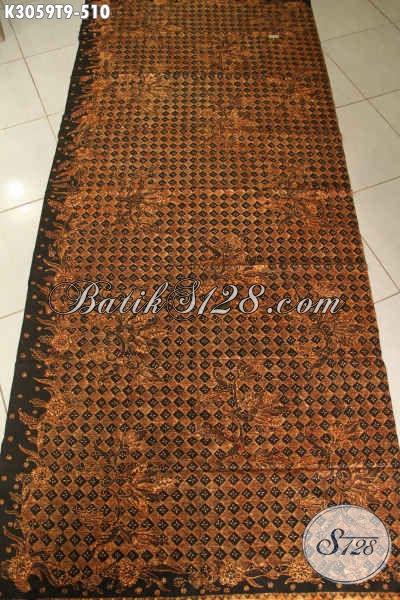 Batik Klasik Solo Mewah Di Jual Online 510K, Batik Bahan Busana Formal Nan Elegan, Penampilan Makin Berwibawa [K3059T-200x110cm]