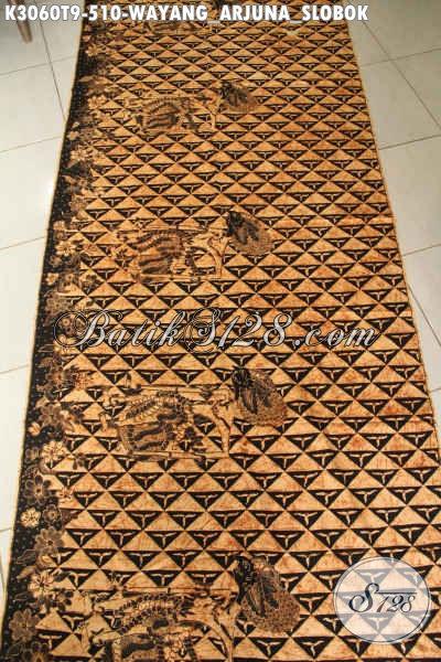 Produk Kain Batik Bahan Busana Kerja Dan Rapat Motif Klasik Wayang Arjuna Slobok Proses Tulis Tangan Harga 500 Ribuan [K3060T-200x110cm]