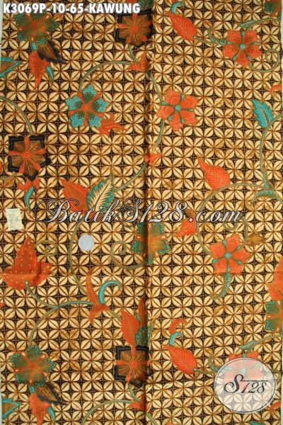 Batik Klasik Proses Printing Motif Kawung, Batik Halus Nan Istimewa Menunjang Penampilan Makin Sempurna Hanya 65 Ribu [K3069P-200x115cm]