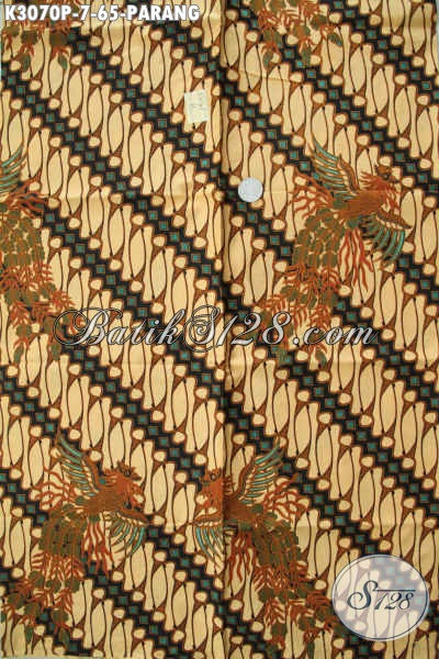 Batik Kain Motif Parang Nan Elegan, Batik Printing 60 Ribuan Kwalitas Bagus, Cocok Untuk Kemeja Pria Nan Berkelas [K3070P-200x115cm]