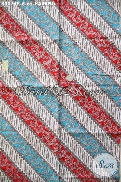 Jual Batik Printing Motif Parang Dengan Kombinasi Warna Keren, Batik Halus Buatan Solo Bahan Baju Santai Dan Resmi Hanya 65K