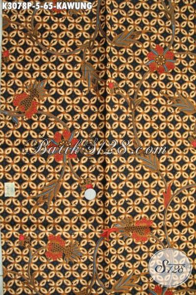 Jual Kain Batik Motif Kawung, Batik Printing Klasik Istimewa Kwalitas Halus Tidak Banyak Vulus